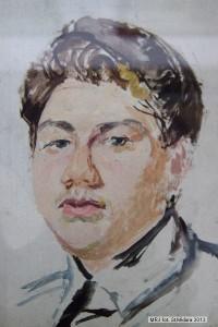 Portret pasierba, ok. 1925 -1935, olej, dykta